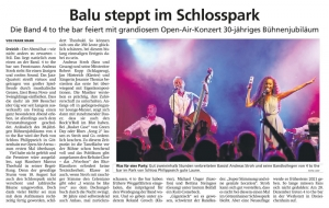 4 to the bar im Schlosspark